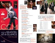 Download and view our 2013-14 Season-at-a-Glance - CCM