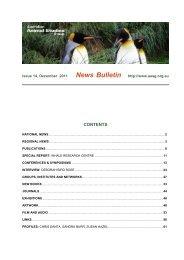 News Bulletin - Australian Animal Studies Group