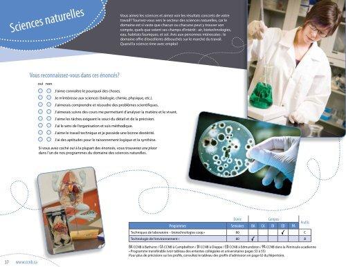 Répertoire des programmes 2013-2014 - CCNB