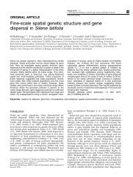 Fine-scale spatial genetic structure and gene dispersal in Silene ...