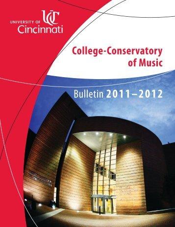 Bulletin 2011?2012 - CCM - University of Cincinnati