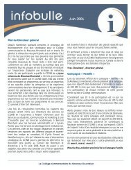 3 e édition - juin 2006 - CCNB