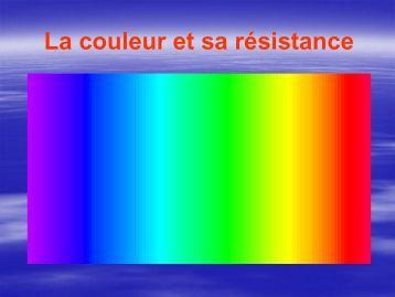 La couleur et sa résistance - Socol SA