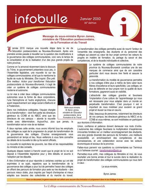 16 e édition - janvier 2010 - CCNB
