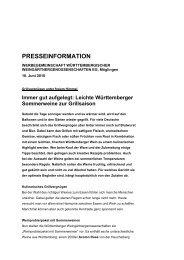 Leichte Württemberger Sommerweine zur ... - Weinland Württemberg