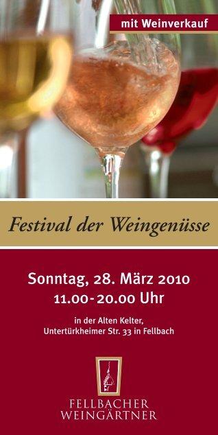 Festival der Weingenüsse mit Weinverkauf
