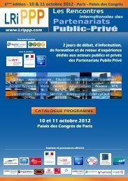 Télécharger le catalogue programme des Rencontres 2012 - lrippp