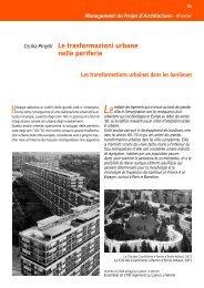 Le trasformazioni urbane nelle periferie