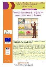 Diversification, nouveaux métiers n°3. Vers un système d ... - Vivea