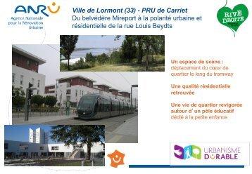 Ville de Lormont (33) - PRU de Carriet Du belvédère Mireport ... - Anru