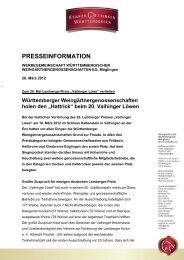 """""""Hattrick"""" beim 20. Vaihinger Löwen - Weinland Württemberg"""