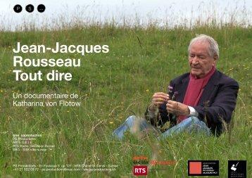 Jean-Jacques Rousseau: «Tout dire - Ville de Genève