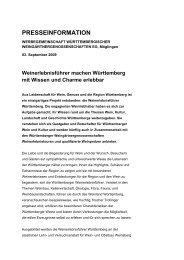 PRESSEINFORMATION - Weinland Württemberg