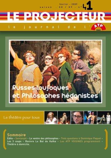 Russes loufoques et Philosophes hédonistes - atp de nimes