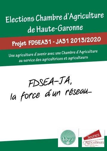 Elections Chambre d'Agriculture de Haute-Garonne ... - fdsea31