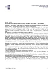 Cultural aspects of conflict management in organizations - d-nb ...