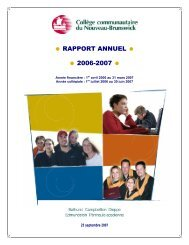• RAPPORT ANNUEL • • 2006-2007 • - CCNB