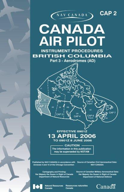 CANADA AIR PILOT - Bathursted Ccnb