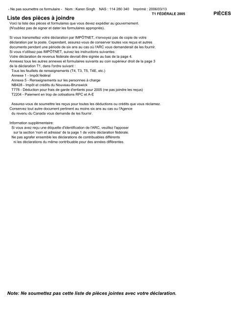 ImpôtRapide 2005 - Bathursted Ccnb