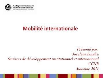 Renseignements généraux sur la mobilité internationale - CCNB