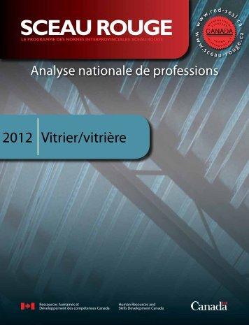 Vitrier/vitrière 2012 - Publications du gouvernement du Canada