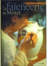 N° 13 : La faïencerie de Moux - Vents du Morvan