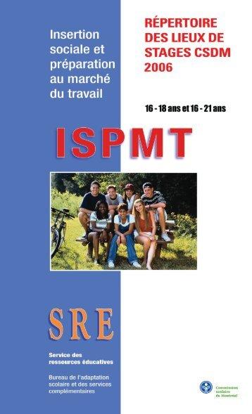 insertion sociale - Commission scolaire de Montréal