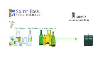 Le tri et le recyclage des emballages la belle adresse - La table des seigneurs saint paul trois chateaux ...