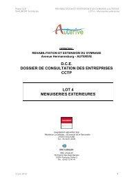 046 Gymnase Auterive DCE CCTP lot 4 120612 - Ville d'Auterive