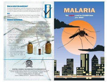 MALARIA - Central Council for Research in Homeopathy
