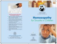 Sinus Folder - Central Council for Research in Homeopathy
