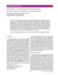 Standardisation of Homoeopathic drug - Aquilegia vulgaris