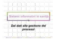 Sistemi informativi in sanità Dai dati alla gestione dei ... - CCRMA