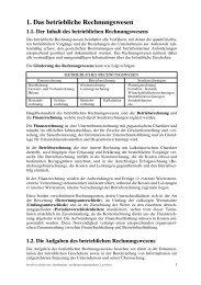 1. Das betriebliche Rechnungswesen - Manz
