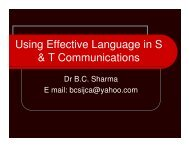 Using Effective Language in S & T Communications