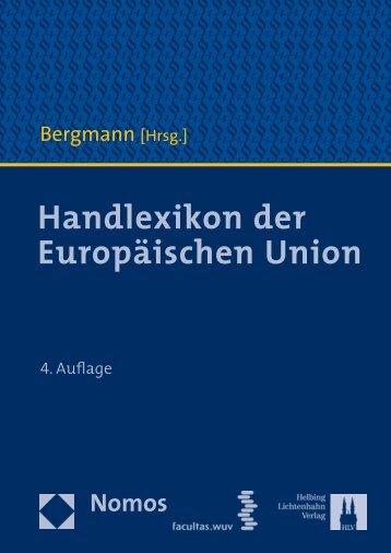 Handlexikon der Europäischen Union - Manz