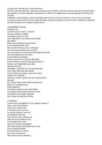 Troyennes d'Euripide - WebLettres
