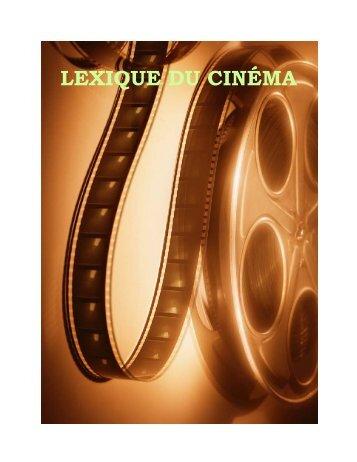 Lexique du cinema