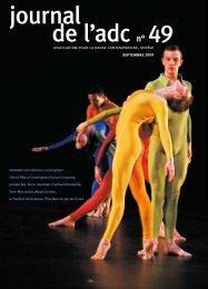 journal 49 - Association pour la danse contemporaine