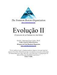Discurso Sobre a Evolução - II - Ordo Svmmvm Bonvm