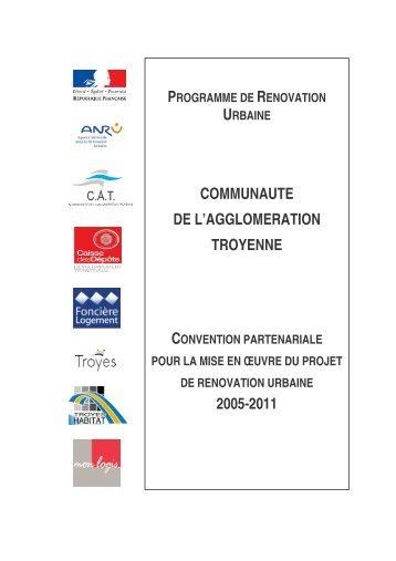 Convention ANRU 3 quartiers de Troyes VERSION SIGNEE 22.05.06