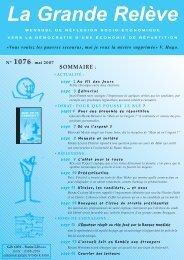 N° 1076 -mai 2007 - Association pour l'Économie Distributive