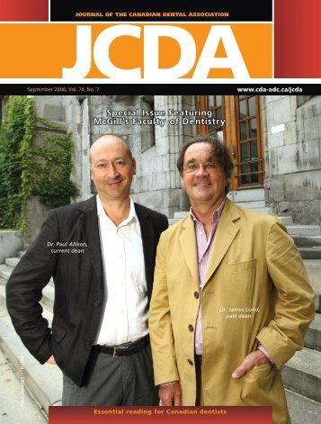 JCDA - Canadian Dental Association