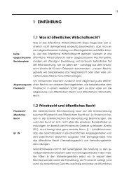 1 EINFÜHRUNG 1.1 Was ist öffentliches Wirtschaftsrecht? - Manz