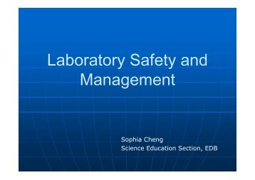 Laboratory Safety and Management