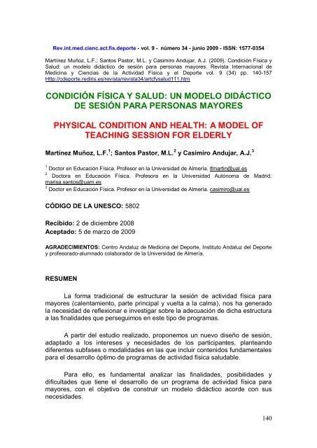 La Sesión De Actividad Física Para Mayores Plan A D