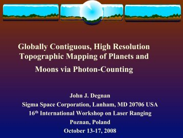 Why Photon Counting? - NASA