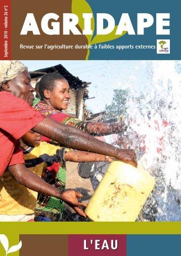 Septembre 2010 - Volume 26.n°2 - L'EAU - IED afrique