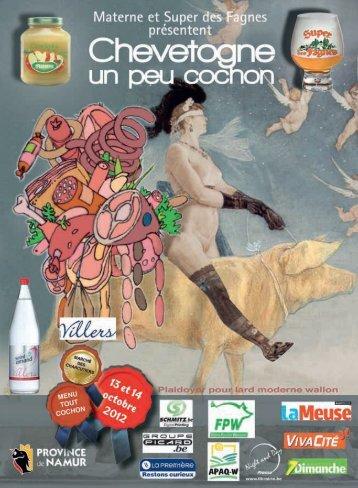programme de Chevetogne un peu cochon 2012 - Domaine ...