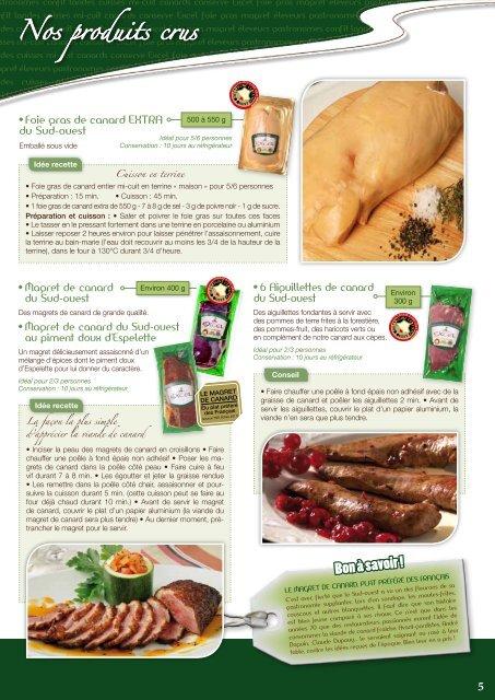 Les produits du canard des éleveurs Gastronomes ... - Excel Foie Gras